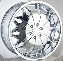 22 inch chrome alloy wheels for SUV car, deep dish wheel rims with pcd 6x139.7
