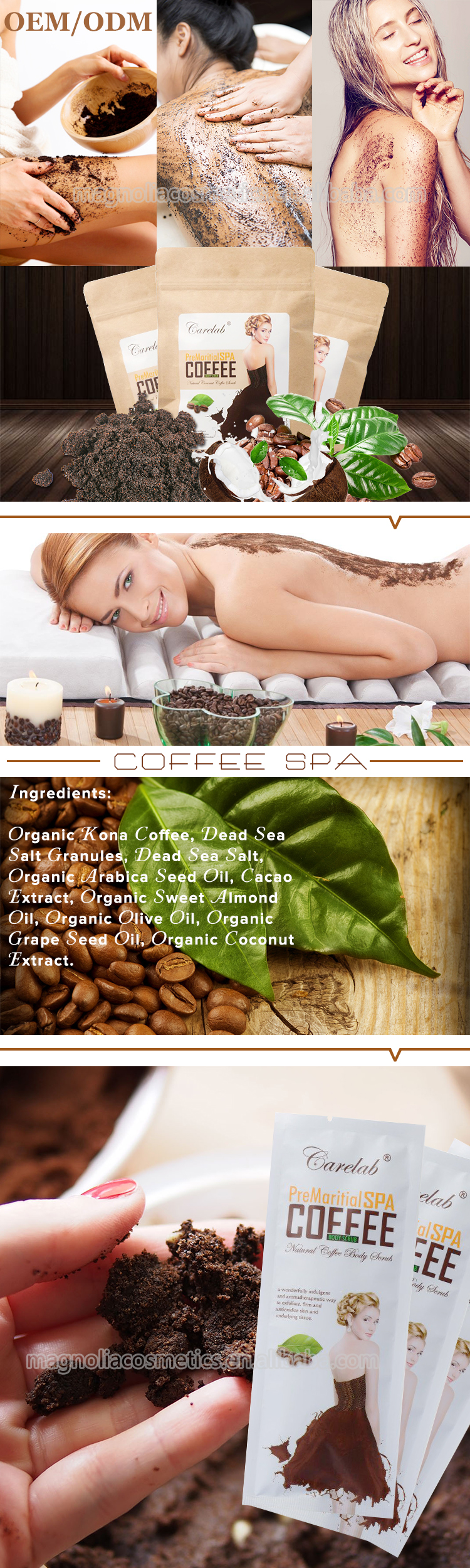 Body scrub coffee scrub with customized logo