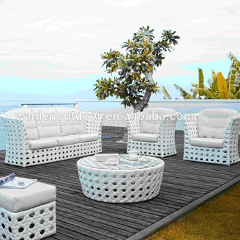 White Wicker Outdoor Rattan Furniture