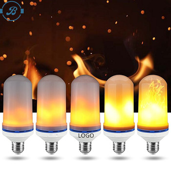 New LED Flame Effect Fire Light Bulb with Gravitational induction sensor fire upward