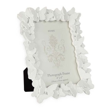 White Butterfly Resin Ornate Picture Frame - Buy Resin Ornate ...