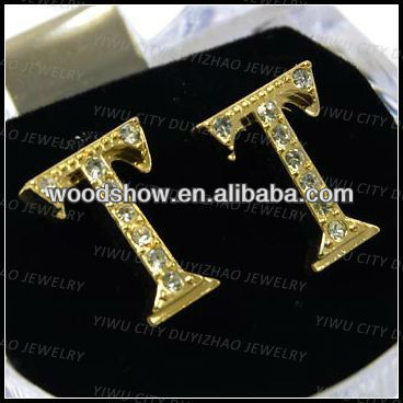 2013 fashion iced out earrings light weight gold earring men earring