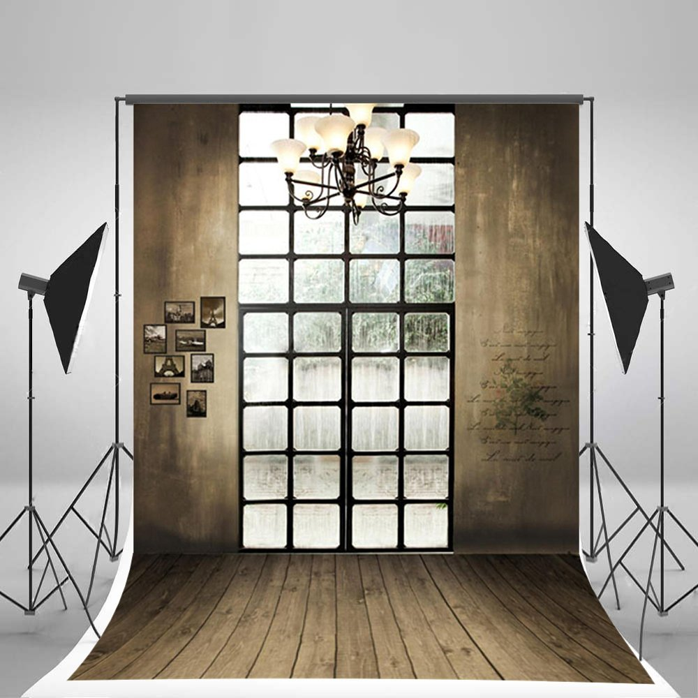 Laeacco 3x5ft Vinyl Photography Backdrop Wall with Windows Scene 1*1.5m Photo Background Studio Props
