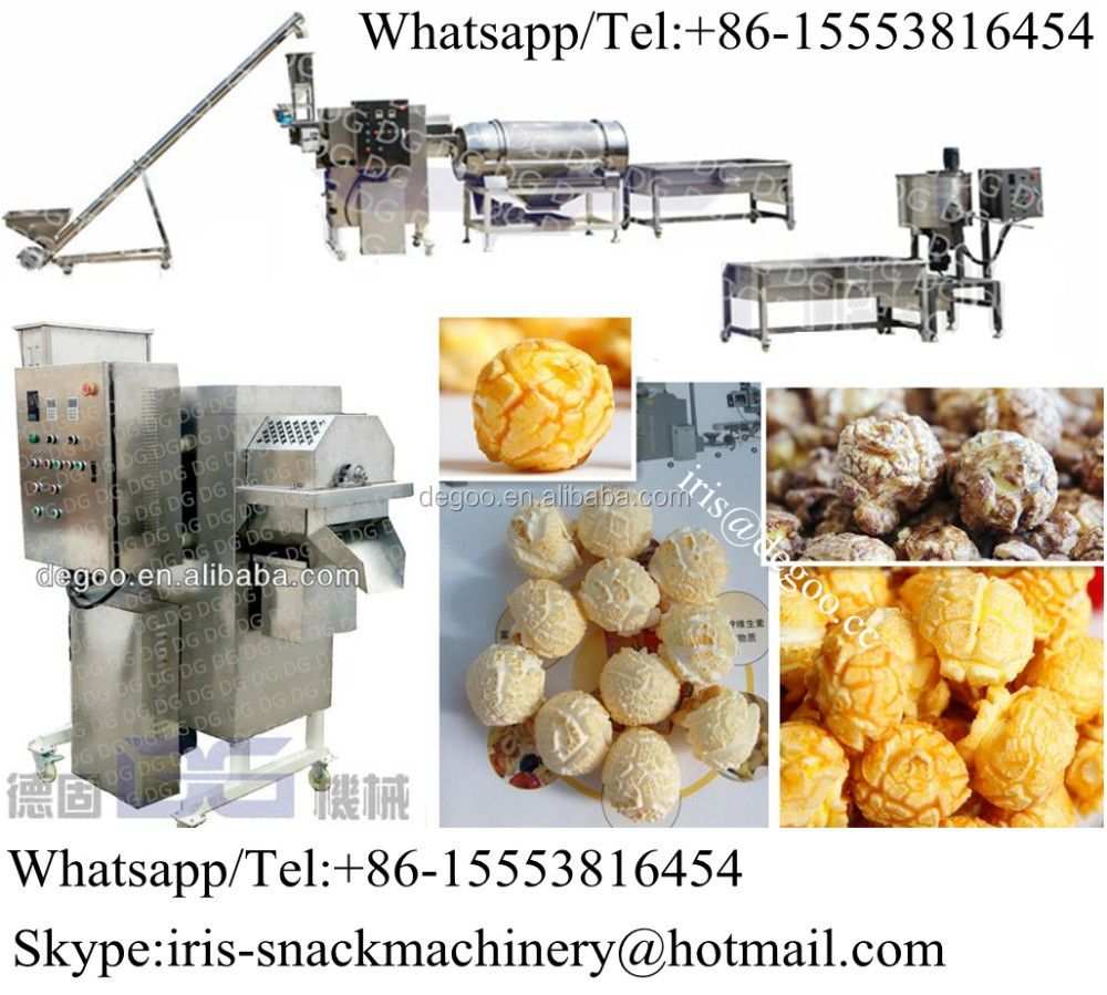 Commercial Caramel Popcorn Popper Machine For Large Batch Produce ...