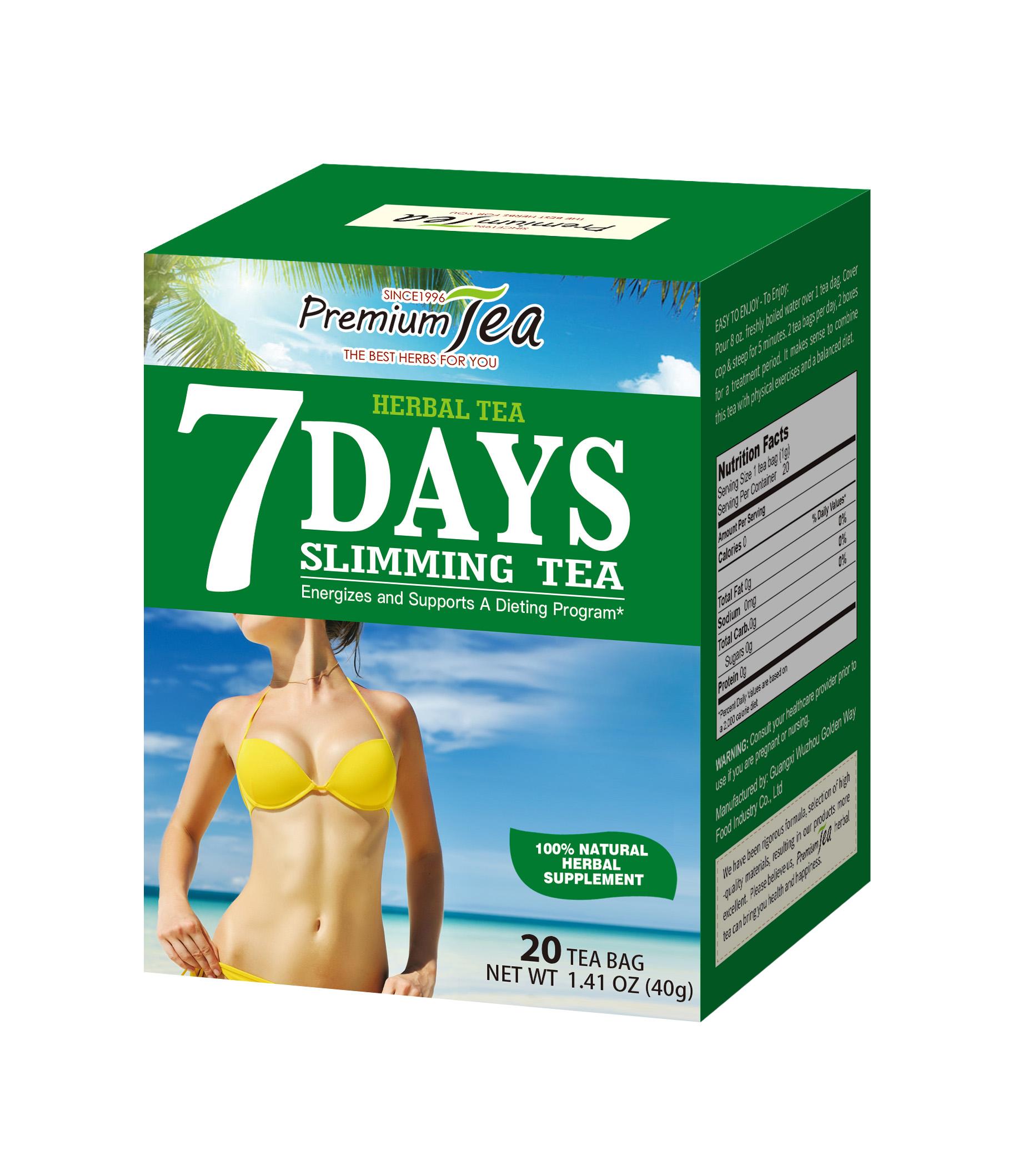 7 days herbal weightloss slimming weight loss tea - 4uTea | 4uTea.com