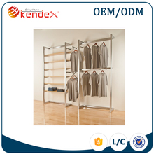 lowest price stainless steel clothes display furniture for clothing retail store