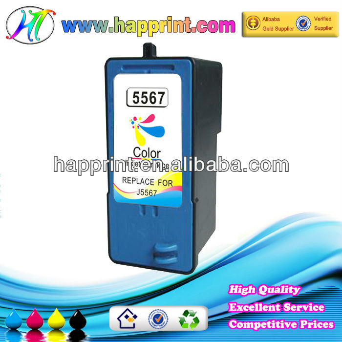J5567 Ink cartridge united office superior quality refilled inkjet ink cartride for Dell 5567