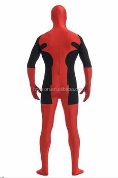 Onesie Fancy Dress Halloween Cosplay Deadpool Costumes For Kids ...