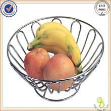 Eco-friendly Stainless steel wire fruit basket with net cover, fruit basket,(GUANGZHOU)