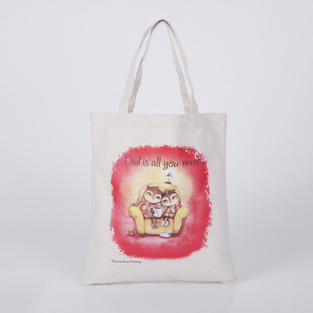 Promotional Standard Size Tote Cotton Canvas Bag