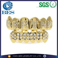 Professional Jewelry Factory 2017 Newest Dracula Grillz Gold and Silver Plated Teeth Grillz