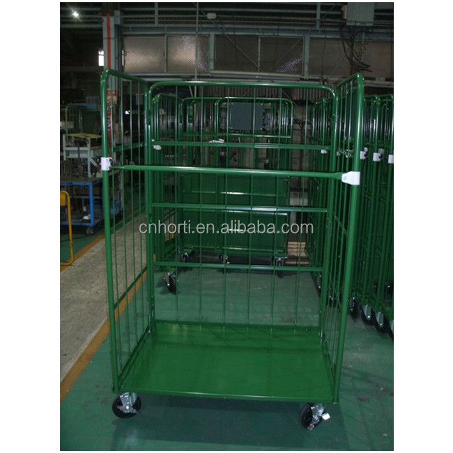 Wire Container Type and Heavy Duty Scale Evergreat collapsible rolling metal storage cage