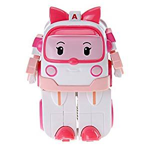 Robocar Poli -Korean Made TV Animation Toy-Ambulance- Amber (Transformer) by Academy