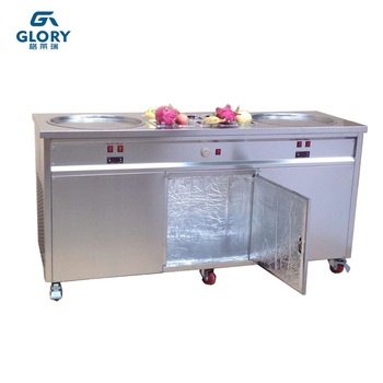 The high effective thailand rolled automatic soft ice cream veding machine/ ice cream machine soft serve