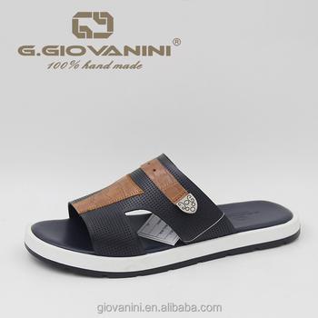 84b50c5e41bd8 Latest Leather Men Fancy Casual Slipper Men's Shoes Men Slipper ...