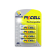 new packing 1.2v aa 2800mah nimh rechargeable remote battery form PKCELL