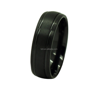 Mens 8mm width classic black ziconium ring from china