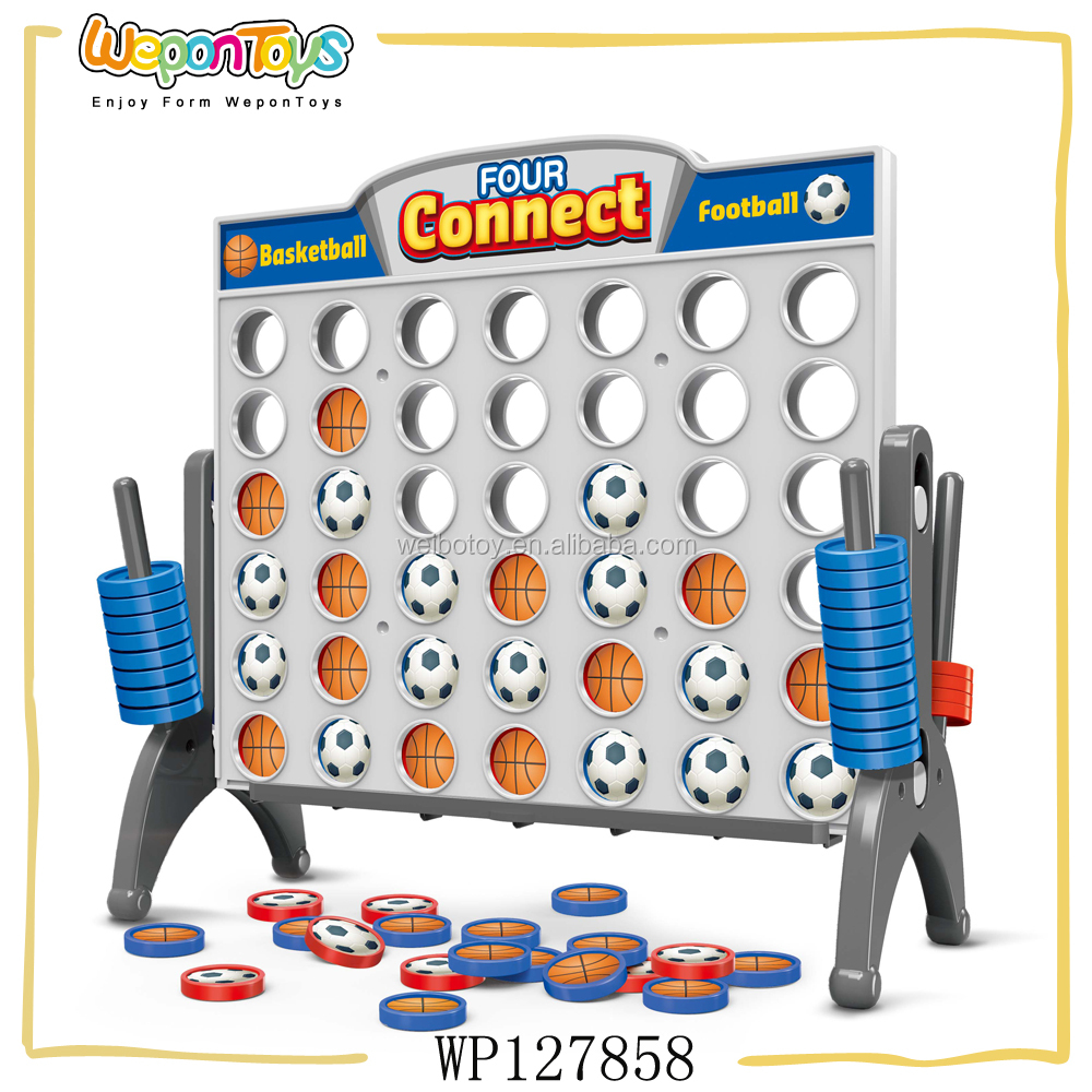 new style kids game football and basketball four in a row game connect four game