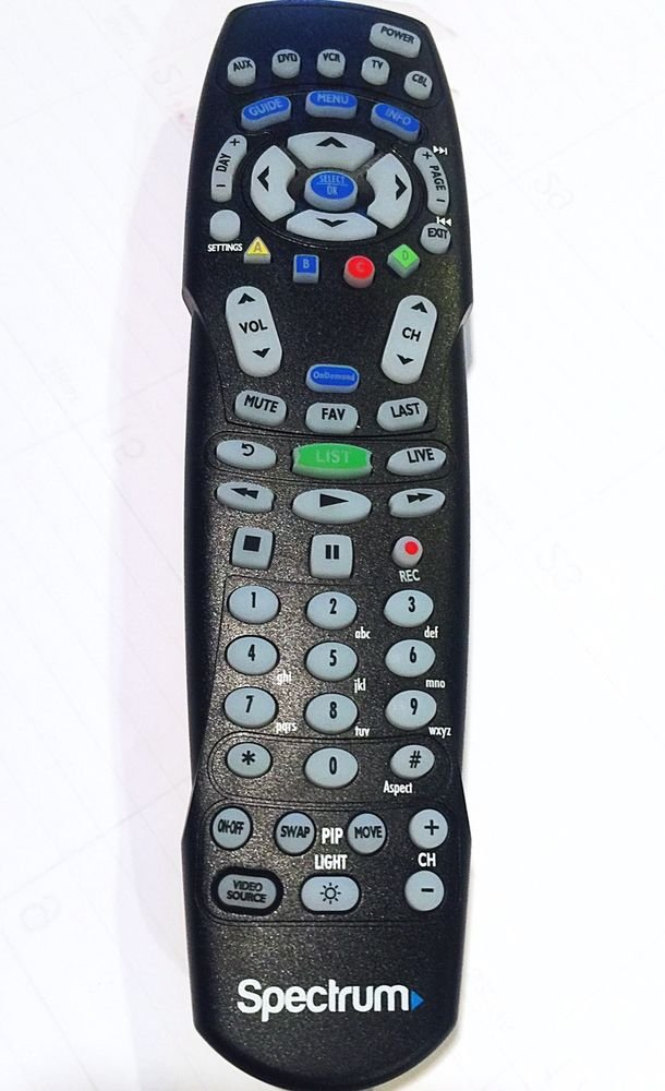 TWC Time Warner Cable Box Universal Remote Control UR2L-R803 Easy CLICKER with Back Lighting