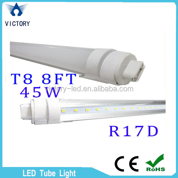 44W Led Tube T8 8ft FA8 Single Pin G13 R17D Rotatable Double Sides smd2835 Led Light Tubes 8 foot <strong>AC</strong> 85-265V