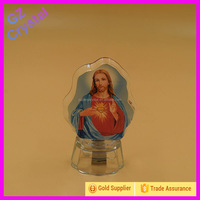 3D Crystal Glass Religious Jesus Figurines