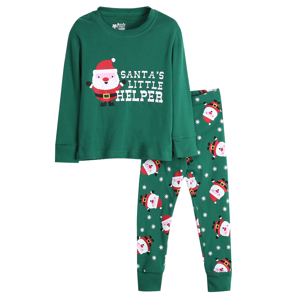 18e87af048 Christmas Santa Cotton Fashion design Long sleeves Sleepwear Kids Boys Girls  Cotton Nightwear Pyjama Set