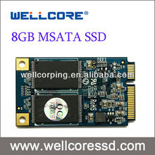 Wellcore 8GB SLC MSATA SSD solid state hard drives with MAX R/W speed 160/160MB/s