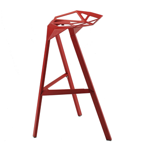 Fashion geometry hollow out desgin metal aluminum stackable bar chair stool