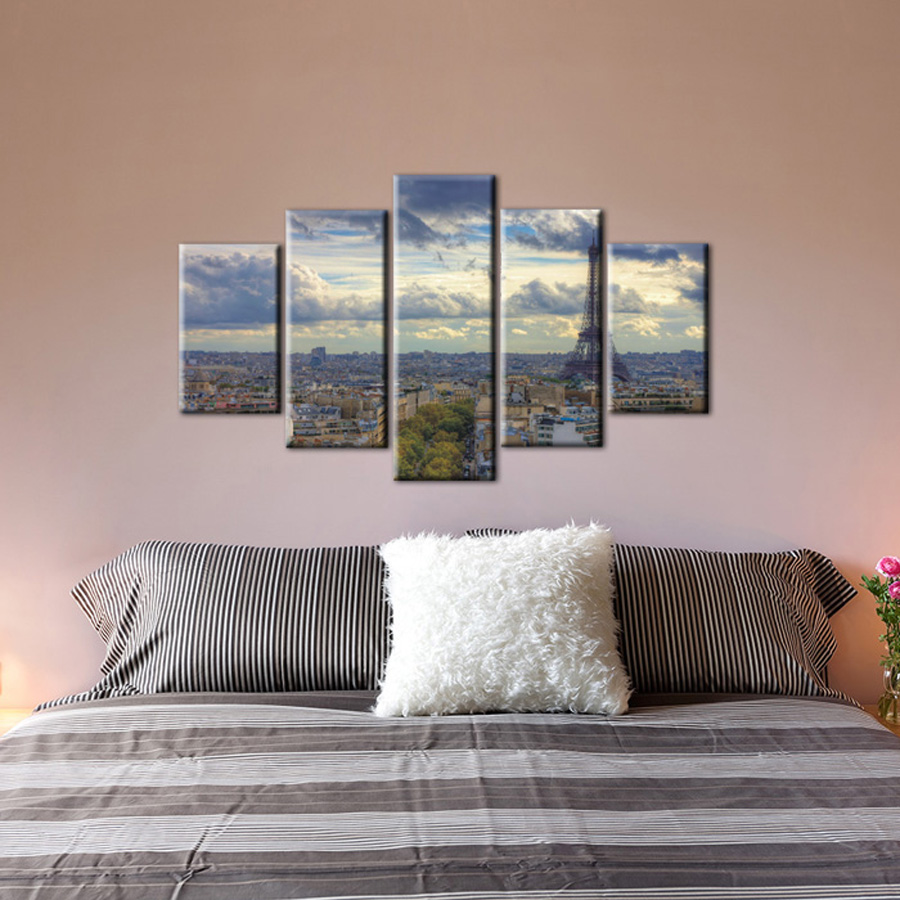 Bedroom Wall Art Designs Modern Bedroom Black And White Bedroom Sets For Young Adults Toddler Boy Bedroom Ideas Uk: 5 Piece Canvas Wall Art Decorative Cheap Prints Picture
