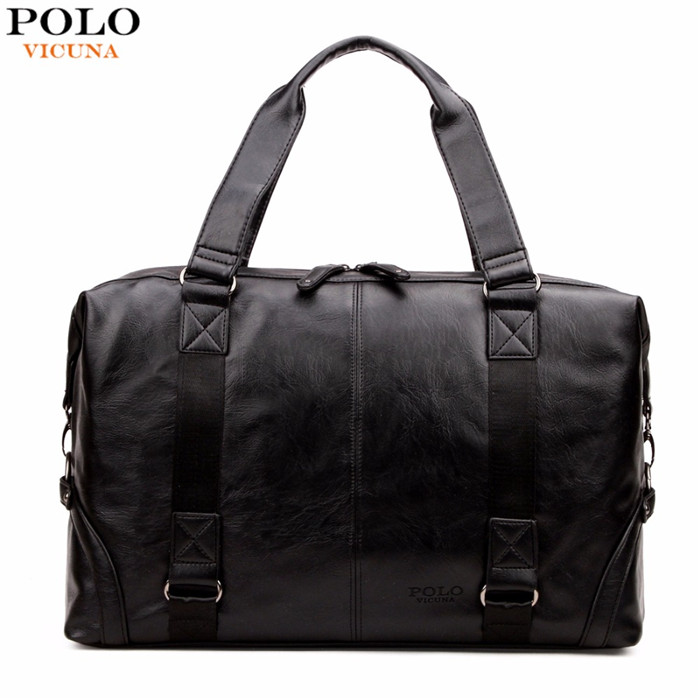 VICUNA POLO Large Capacity Male Leather Travel Bag Casual Bussiness Luggage Bag Handbag Multifunction Shoulder Bag V6801