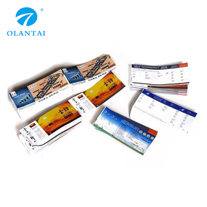 Custom printing flight ticket
