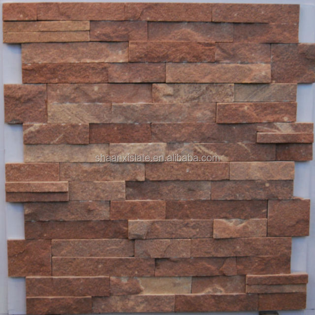 Red Slate Interior Wall Stone Decoration