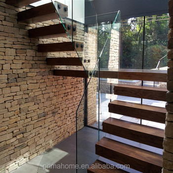 Internal Residential Wooden Floating Stairs Price