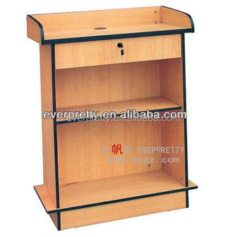 Modern School Furniture Speech Table, Wood Speech Desk With Locker, Wood  Church Pulpit