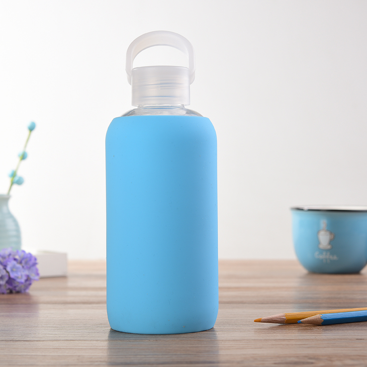 New Products Plastic Insulated Water Bottle With Silicone Sleeve