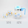 3 pieces glass water jug sets glass pitcher with glass water cup