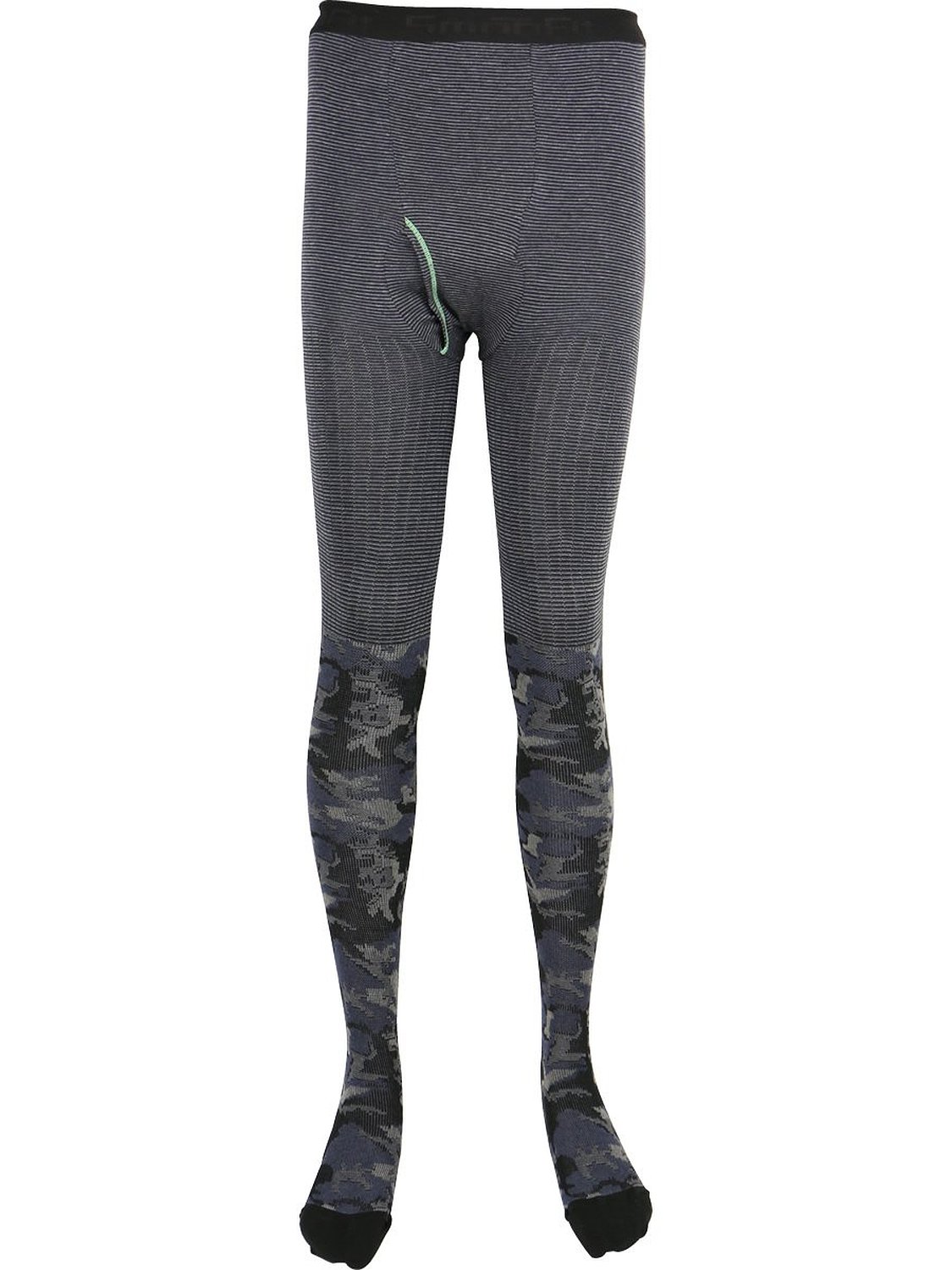 N-platz Mens Smoofit 150 Denier Neps Texture Knit Footed Thermal Tights