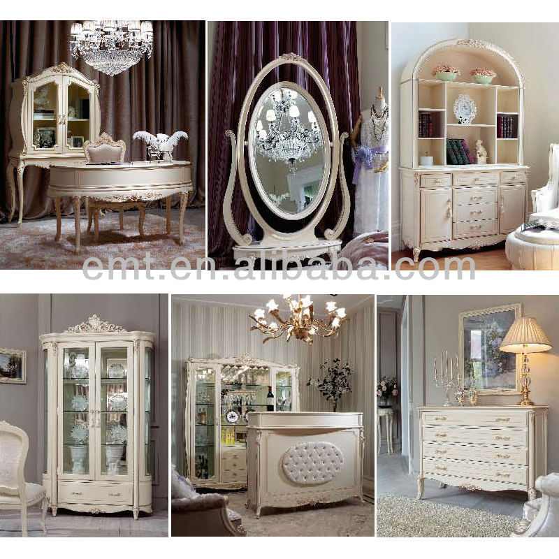 Modern French Living Room White Furniture Set/White And Furniture