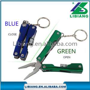 Wholesale multifunction portable folding pliers with LED made by 2CR 13 stainless steel