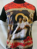 ANGEL ROSE JESUS PICTURE ALL OVER PRINT SUBLIMATION T-SHIRT/Religious Printed T Shirt