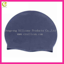 Wholesale rainbow color design adult/kids size silicone dome swim cap