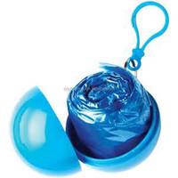Emergency PE Promotional Foldable Rain Poncho In Ball