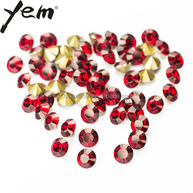 Yem Flat point back resin glass rhinestone gem stone garment jewelry accessories decoration stone