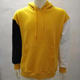 KY fashion youth men real photos UK size OEM 100%cotton french terry navy yellow white color blocking xxxxl jumper hoodies