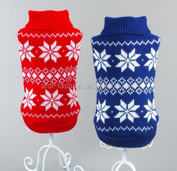 Wool Snowflake Knitting Pattern Christmas Sweater For Dog Buy