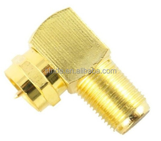 F male to F female right angle Coaxial Connector