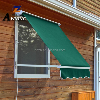 Easy assemble UV protection retractable awning for windows