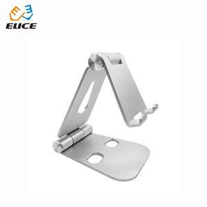 Aluminum Alloy Fold able Design Mobile Phone Holder Stand Adjustable Angle Desktop Phone Holders Support for Phones Tablets