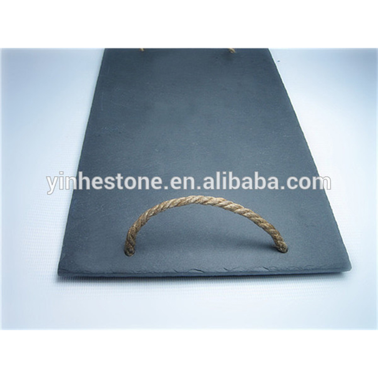 2017 Eco-friendly natural slate decorating food plate