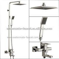 single handle rain shower faucet set with sliding bar